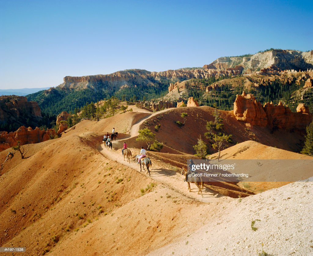 Trail riding, Bryce National Park, Utah, USA : Foto de stock