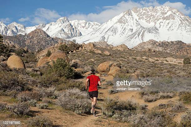 Trail running in the Sierra Mountains.