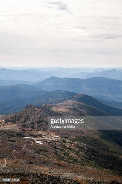 A trail to the summit of mount Washington, NH, USA