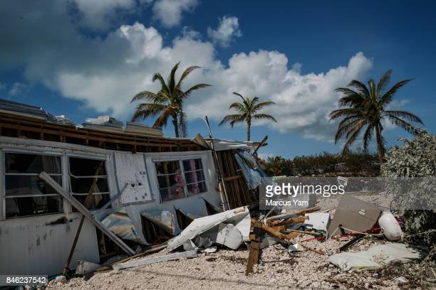 Trailer homes at the Sea Breeze trailer park are destroyed in the path of Hurricane Irma in Islamorada Florida Keys on Sept 12 2017