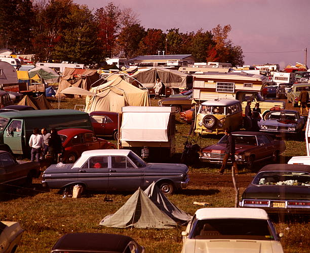 Trailer Park Home Cars Community People (1970 1970