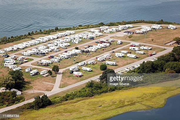 Trailer park, Newport County, Rhode Island, USA