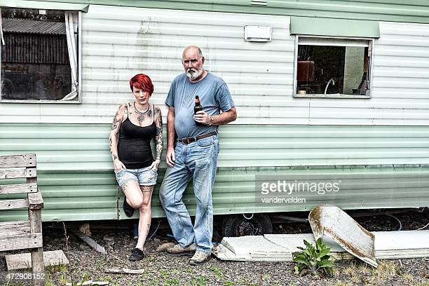 trailer trash - redneck stock photos and pictures