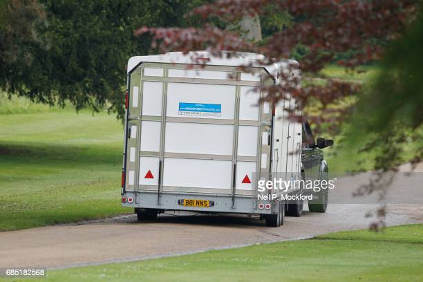 Trailers arrive at St Mark's Church ahead of the Wedding of Pippa Middleton and James Matthews on May 19 2017 in Englefield Berkshire