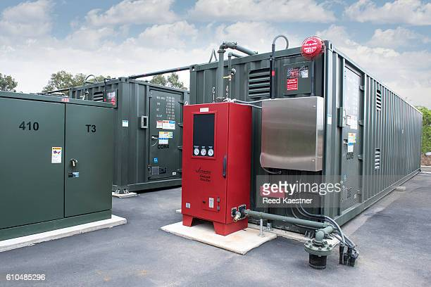 Trailers house storage batteries for off line use of solar power.