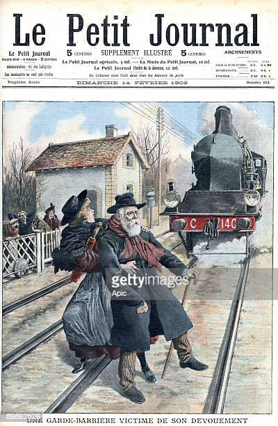 train accident at SaintFons level crossing in south of France frontpage of newspaper Petit Journal february 14 1909
