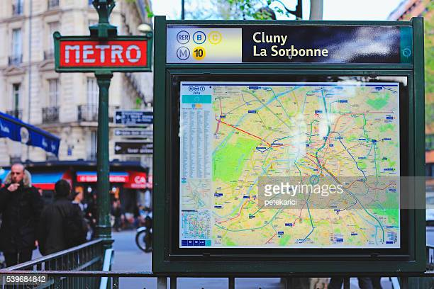 Train and metro map in Paris