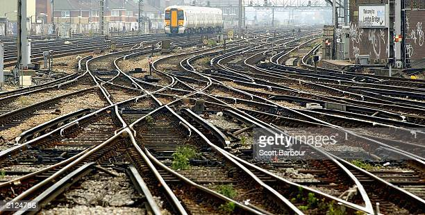 Train arrives at London Bridge Station June 30, 2003 in London. Network Rail, the railway infrastructure company, has confirmed 2,000 jobs will be...
