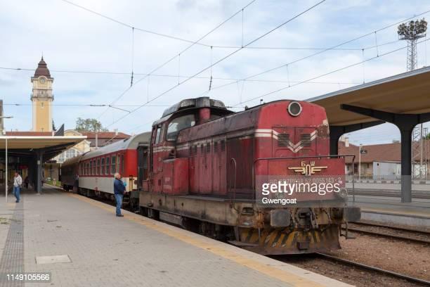 Train at Burgas Central railway station