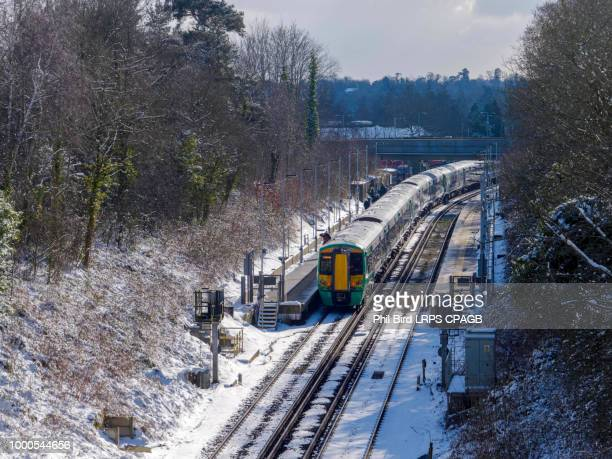 EAST GRINSTEAD, WEST SUSSEX/UK - FEBRUARY 27 : Train at East Gri