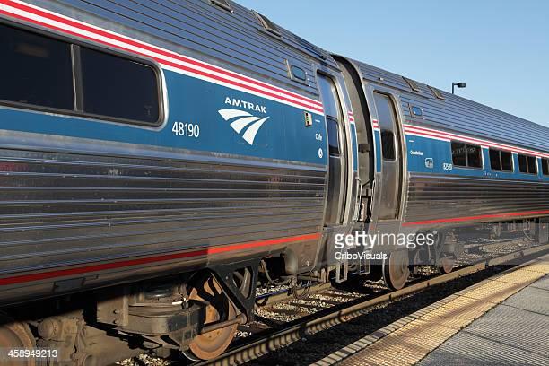 AMTRAK train at station in Rutland Vermont