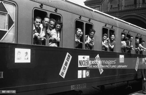 Train at the station, a trip to Berlin by the National Recreational Club in Genoa, August 13 Germany, 20th century.