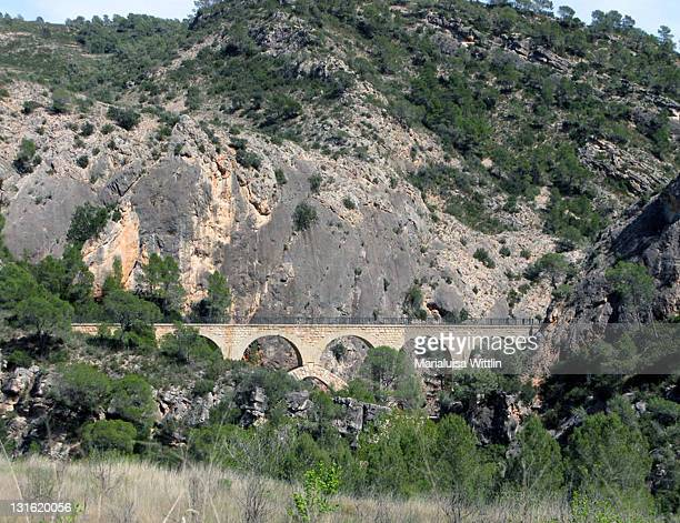 Train bridge in Canaletes canyon