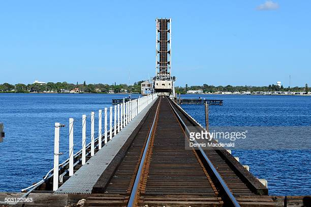 Train bridge on the Riverwalk at Bradenton