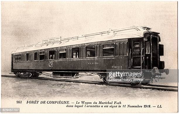 Train Car Armistice with Germany Compiegne France November 18 French Postcard