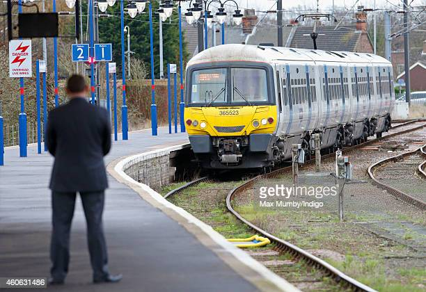 A train carrying Queen Elizabeth II arrives at King's Lynn Railway Station from London King's Cross where The Queen departed to begin her annual...