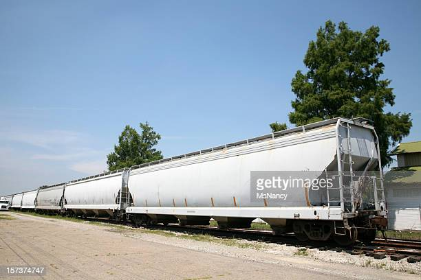 train cars - cargo train stock photos and pictures