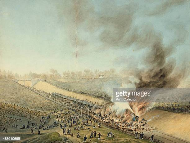 Train Crash at Bellevue in 1842' From the Chateau of Sceaux France