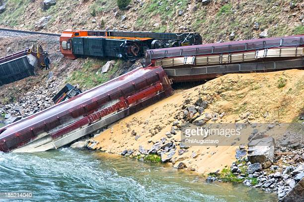 Train derailed by landslide in Wyoming