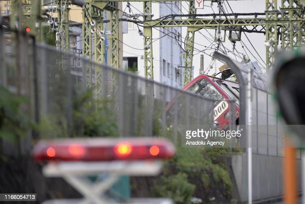 A train derails after a collision between a truck in the southern of Tokyo in the region of Kanagawa Prefecture injuring several passagers on...