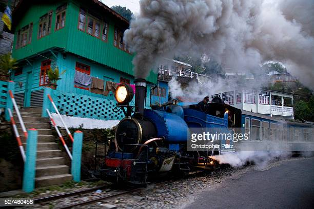 Train driver with his assistants take the daily run from Kurseong back to Darjeeling the shorter 32Km journey of the DHR The Darjeeling Himalayan...