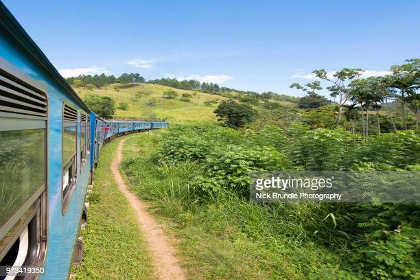 train from ella to kandy, sri lanka - kandy kandy district sri lanka stock pictures, royalty-free photos & images