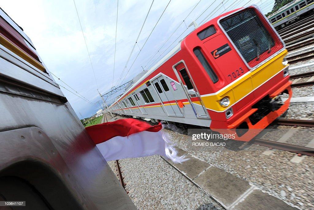 A train from the state railway operator PT Kereta Api