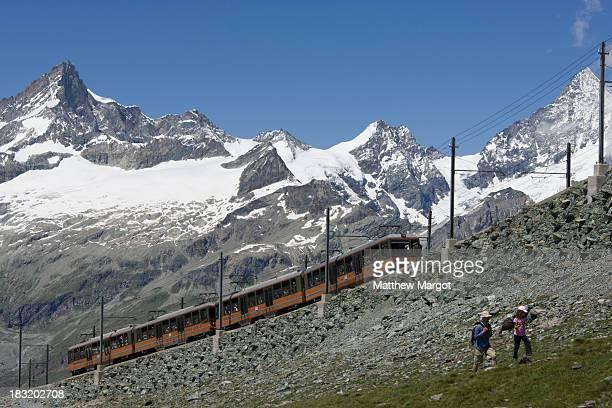 CONTENT] Train heading up to the Gornegrat from Zermatt