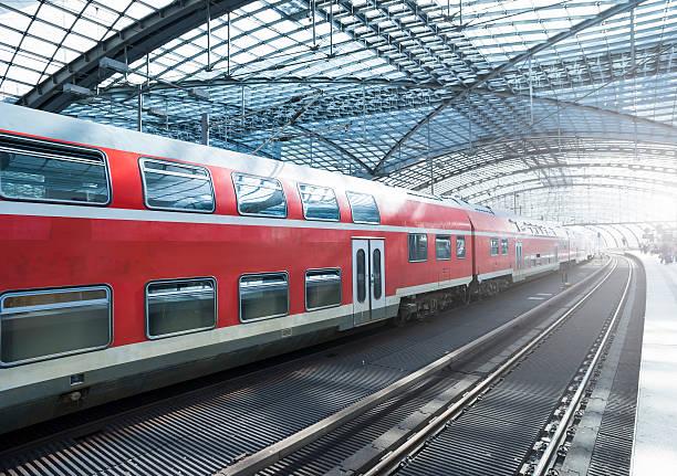"""""""Train in a modern station, Berlin"""""""