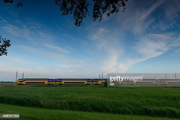 Train in nature