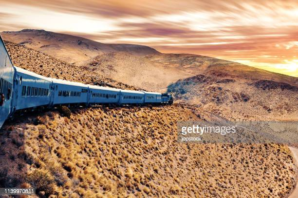train in santa province, argentina - salta argentina stock photos and pictures