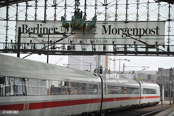 Train is seen at the Berlin Hauptbahnhof in Germany, on May 20, 2015. German rail travel was paralysed Wednesday by an open-ended strike, It is the...