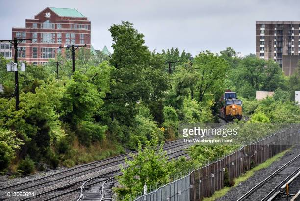 CSX train is stopped on its tracks after a propane leak that caused evacuations and metro stoppages on May 2018 in Rockville MD