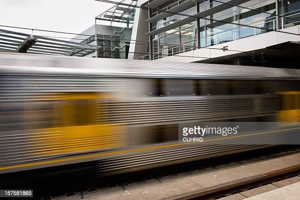 train leaving station