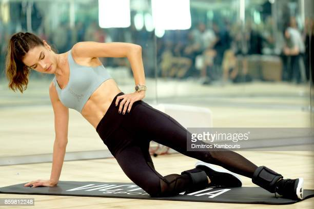 Train Like an Angel with Alessandra Ambrosio in Victoria's Secret Angel Max Sport Bra at Tracy Anderson on October 10 2017 in New York City
