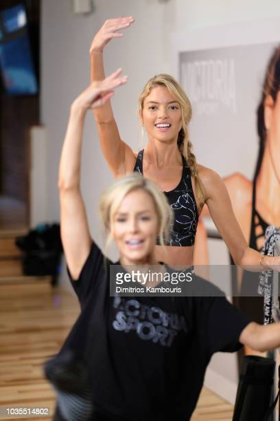 Train Like An Angel with Martha Hunt to kick off the 2018 Victoria's Secret Fashion Show Season on September 18 2018 in New York City
