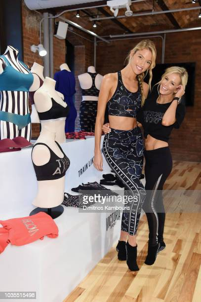 Train Like An Angel with Martha Hunt and trainer Andrea Rogers to kick off the 2018 Victoria's Secret Fashion Show Season on September 18 2018 in New...
