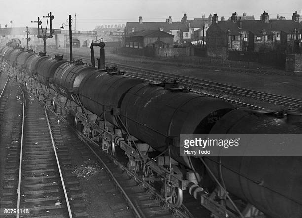 A train made up of tanker wagons at Cambridge 20th December 1943