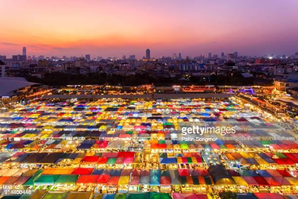 Train Night Market Ratchada in Bangkok city