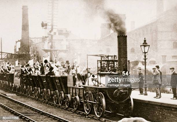 Train Number One July 1925 A reenactment of the first train journey made by George Stephenson's 'Locomotion no 1' on the Stockton and Darlington...