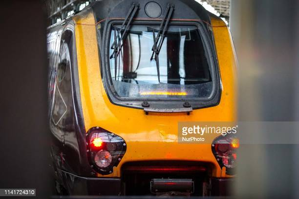 A train of Northern railway is parked at the Manchester Piccadilly Station in Manchester England on 6 May 2019 Northern Railway has launched a...