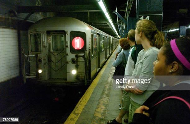 Train on New York subway, New York City, New York, United States of America, North America