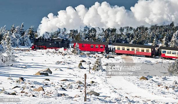 Train on the Brocken (Harz)