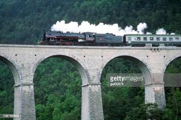 Train sur Viaduct