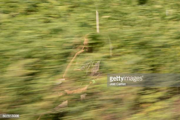 refleja en la ventana de tren de pasajeros - lituania fotografías e imágenes de stock