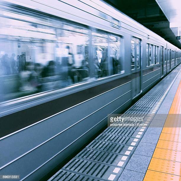 Train Passing Subway Station