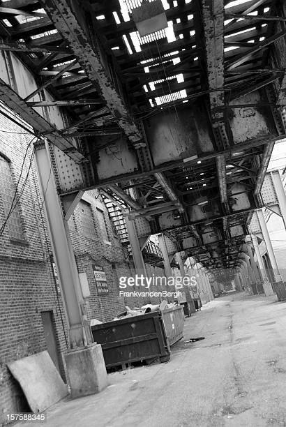 train - black alley stock photos and pictures