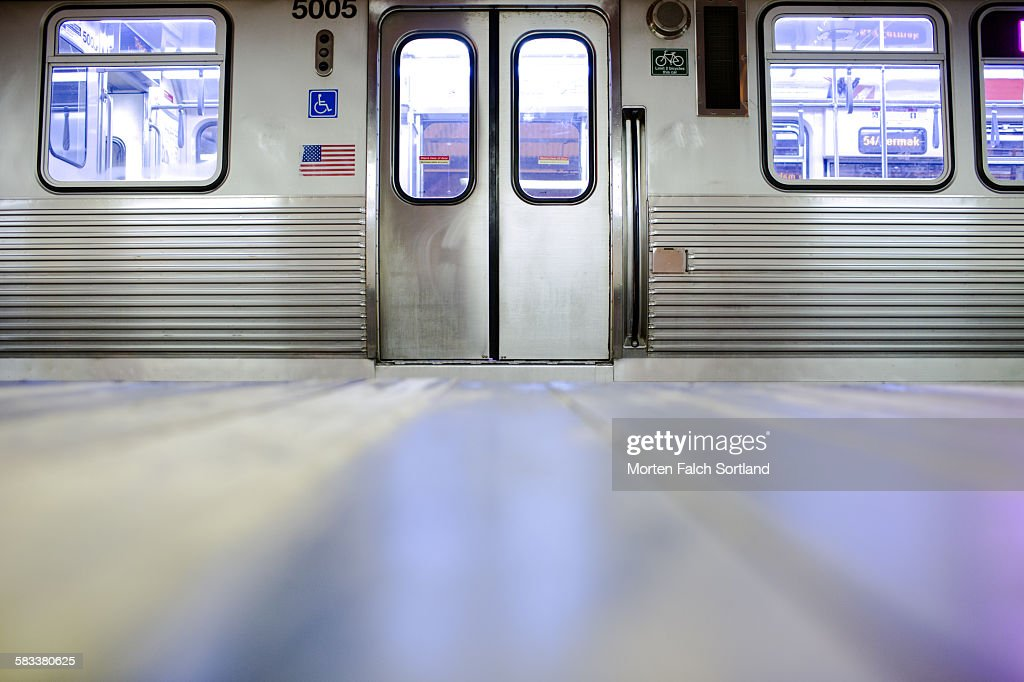 CTA train : Stock Photo
