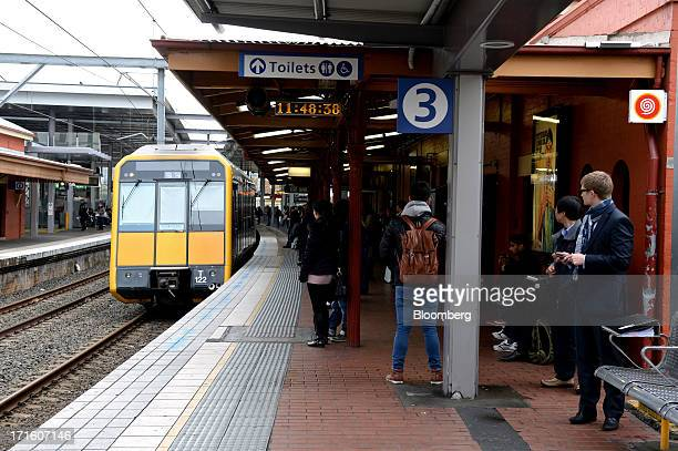A train pulls up to a platform at Parramatta station in western Sydney Australia on Monday June 24 2013 Chris Bowen a key backer of returned Prime...