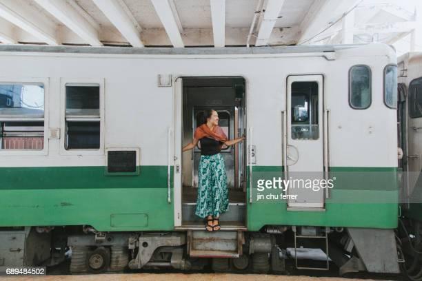 Train ride around Yangon
